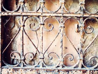 old iron fence