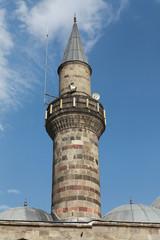 The Minaret of Lalapasa Mosque in Erzurum, Turkey