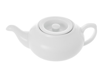 Porcelain teapot isolated