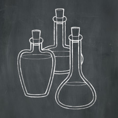 Chalk Potion Bottles