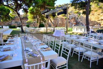 Wedding guest set-up