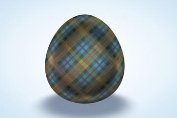 Scottish Kilt Painted Egg