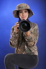 Wildlife female photographer
