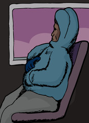 Black Man on Bus