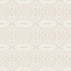 seamless light ornamental geometrical background for your design