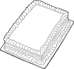 Outlined Cake