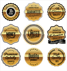 Premium quality golden labels collection