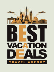banner best vacation deals with architectural landmarks