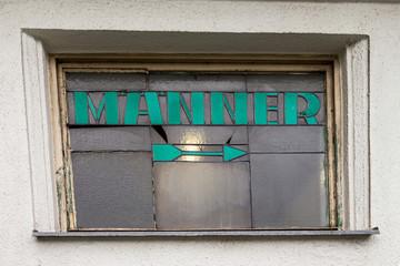 "Toilette Schild ""Männer"""