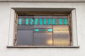 """Toilette Schild """"Frauen"""""""
