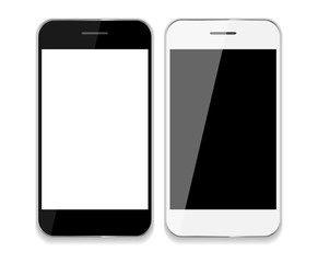 Abstract Design Mobile Phones . Vector Illustration