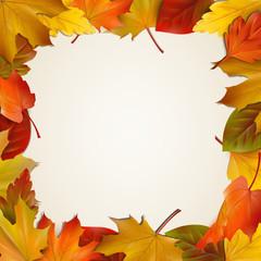 Herbstblätter - Rahmen