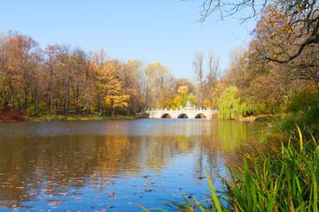 autumn park Lazienki, Warsaw