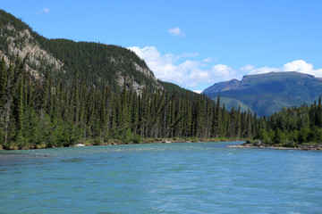 Trout River in Muncho Lake Provincial Park, Canada