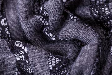 Closeup Gray Flax Linen