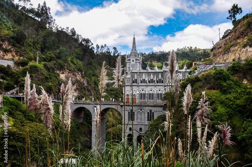 Leinwandbild Motiv Las Lajas Church in South of Colombia