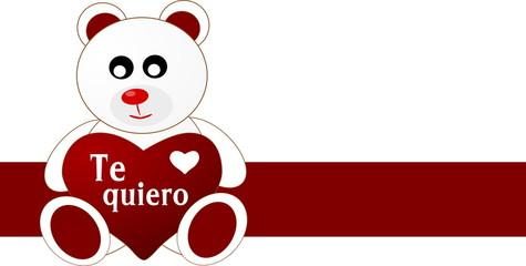 oso amoroso te quiero