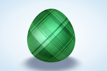 Green Plaid Painted Egg