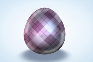 Pink Plaid Print Egg
