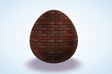 Brick Wall Etched Egg