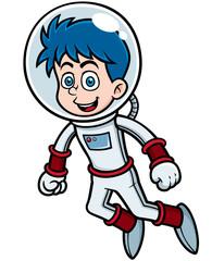 Vector illustration of Cartoon astronaut