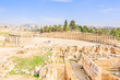 Oval Forum in Gerasa, Jerash, Jordan.