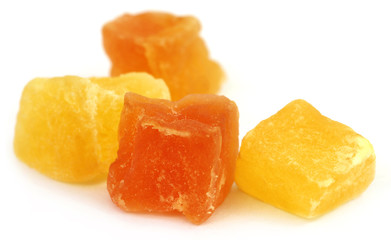 Dried fruits apricot and papaya