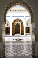 Interior of El Bahia Palace in Marrakesh, Morocco