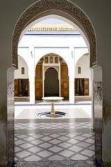 Interior of El Bahia Palace in Marrakesh, Morocco