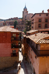 street at old town in sunny day.  Albarracin