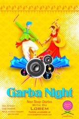 Garba night Poster