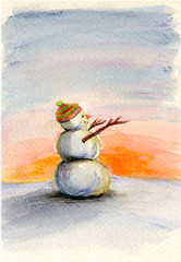 Even Snowmen love the sun