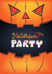Halloween Party Design template.