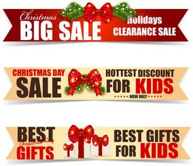Christmas sale labels