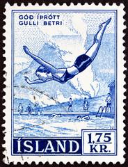 Icelandic Wrestling (Diving) (Iceland 1955)