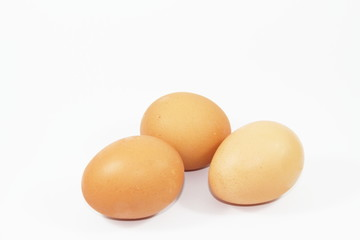 Eggs isolated on the white
