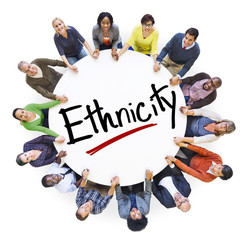 People Holding Hands Around Letter Ethnicity