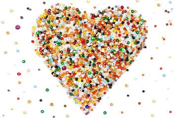 beaded heart-1