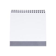 Blank desk calendar isolated on white background