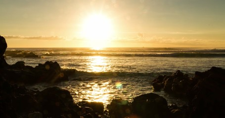 4K Timelapse of sunset at La Saline Le Baine, Reunion