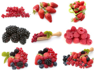 collage fruits rouges