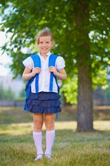 Schoolchild with rucksack