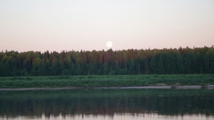 Pinyega River of Arkhangelsk Oblast in Russia. on period of Whi
