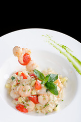 Risotto with shrimps/fine dining