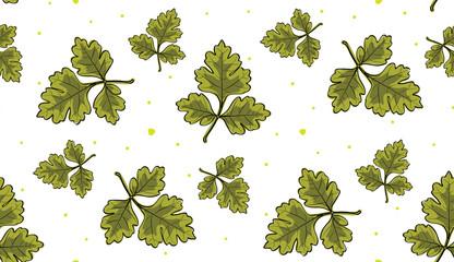 oak leaves seamless