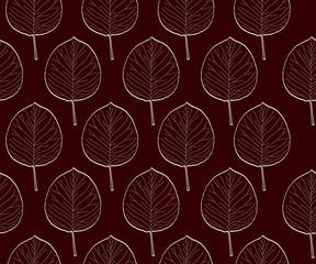 vintage leaves seamless