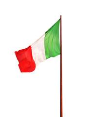 Flag of Italy isolated on white background