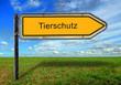 canvas print picture - STrassenschild 17 - Tierschutz