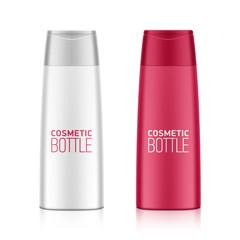 Cosmetic packaging, plastic shampoo or shower gel bottle