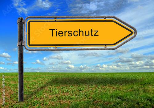 canvas print picture STrassenschild 17 - Tierschutz